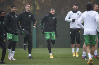 Celtic in training on Friday