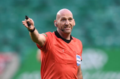Bobby Madden refereeing Hibernian vs Celtic