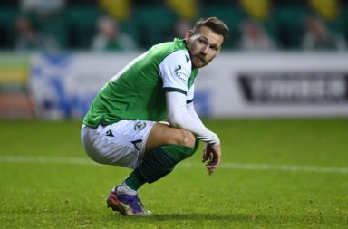 Hibernian winger Martin Boyle against Celtic
