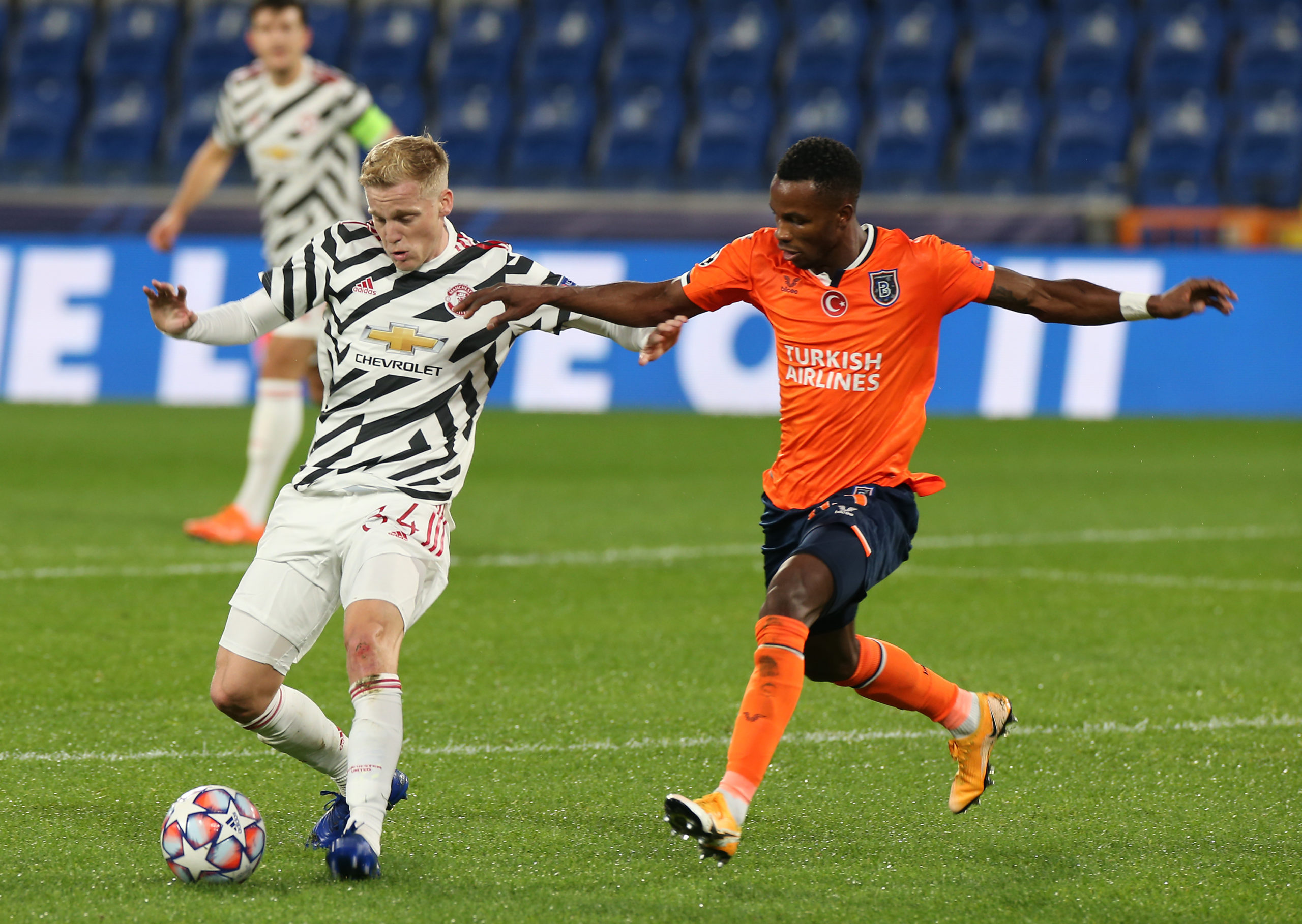 Celtic player Boli Bolingoli in action on loan at Istanbul Basaksehir
