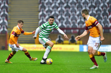 Celtic's Tom Rogic in action against Motherwell