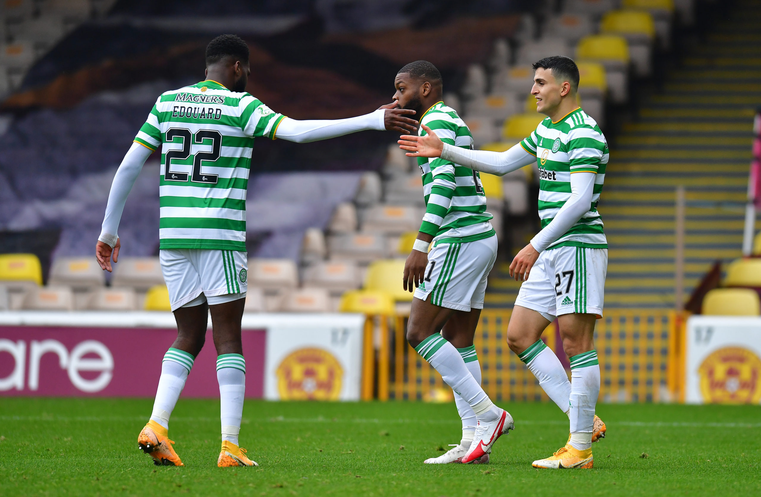 Celtic brought on Odsonne Edouard and Olivier Ntchm at Fir Park