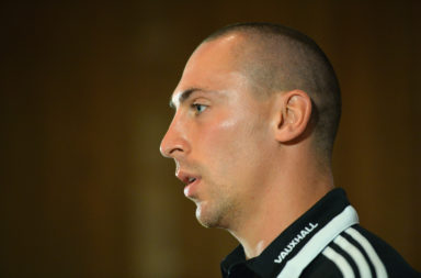 Scott Brown during a Scotland press conference