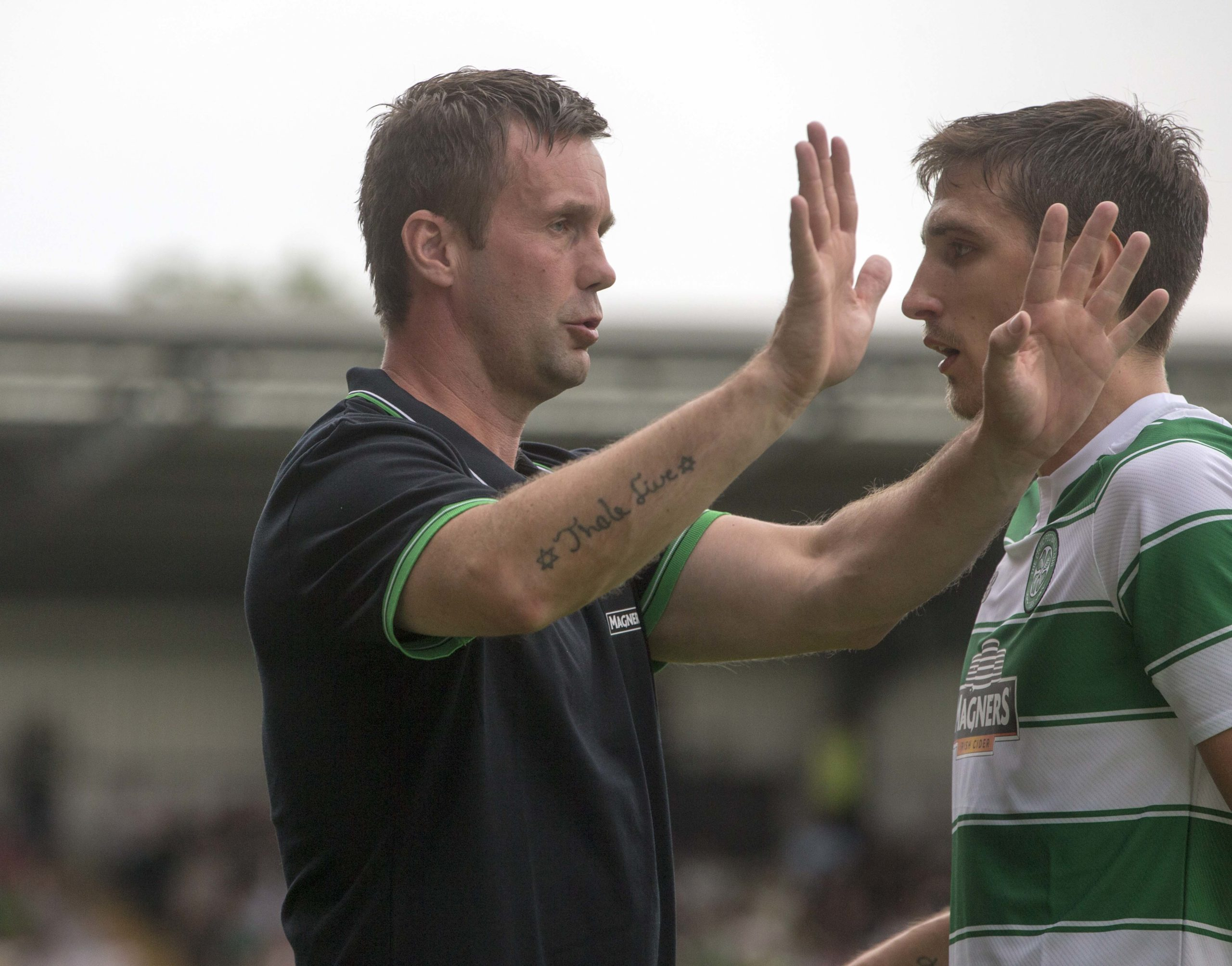 Ronny Deila and Stefan Scepovic
