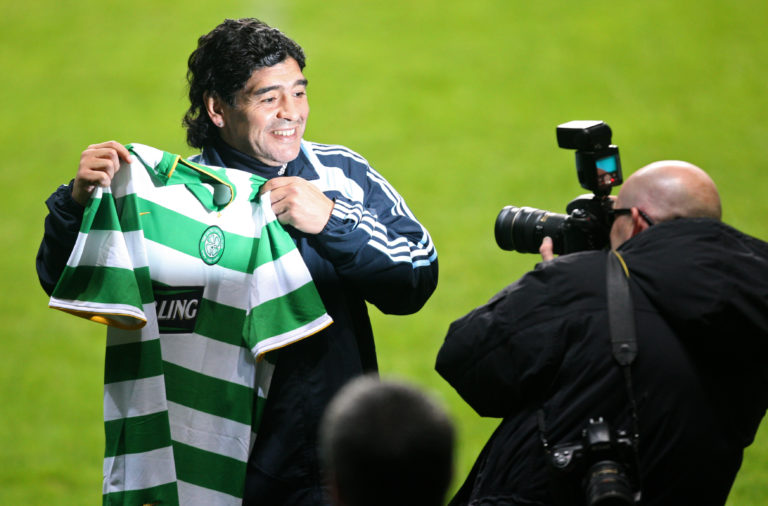 Diego Maradona at Celtic Park