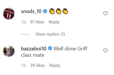 People react to Leigh Griffiths' Celtic post on Instagram