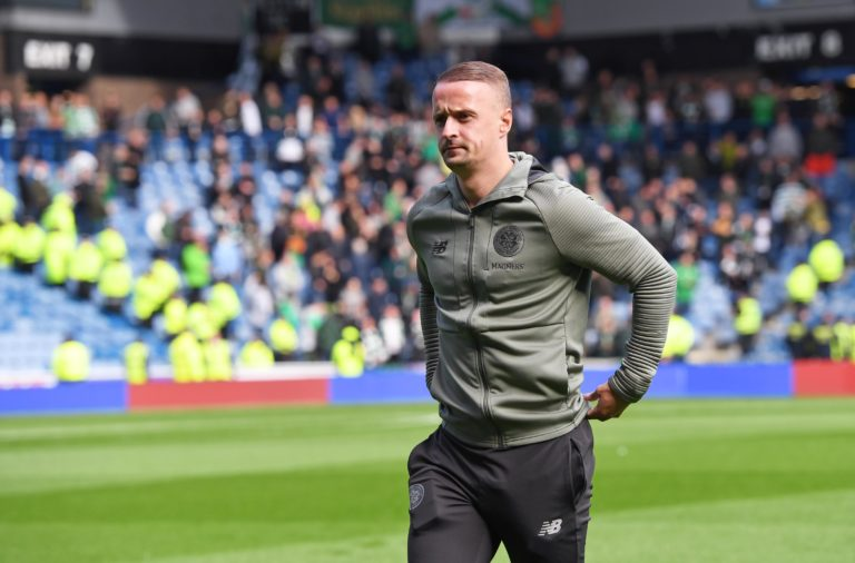 Celtic striker Leigh Griffiths at Ibrox