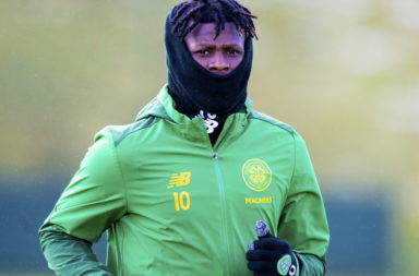Celtic striker Vakoun Bayo in training