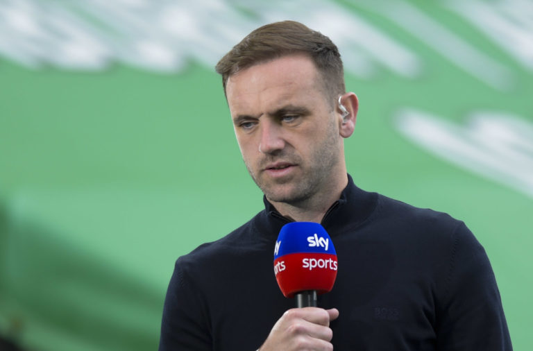 Sky Sports pundit James McFadden at Celtic Park