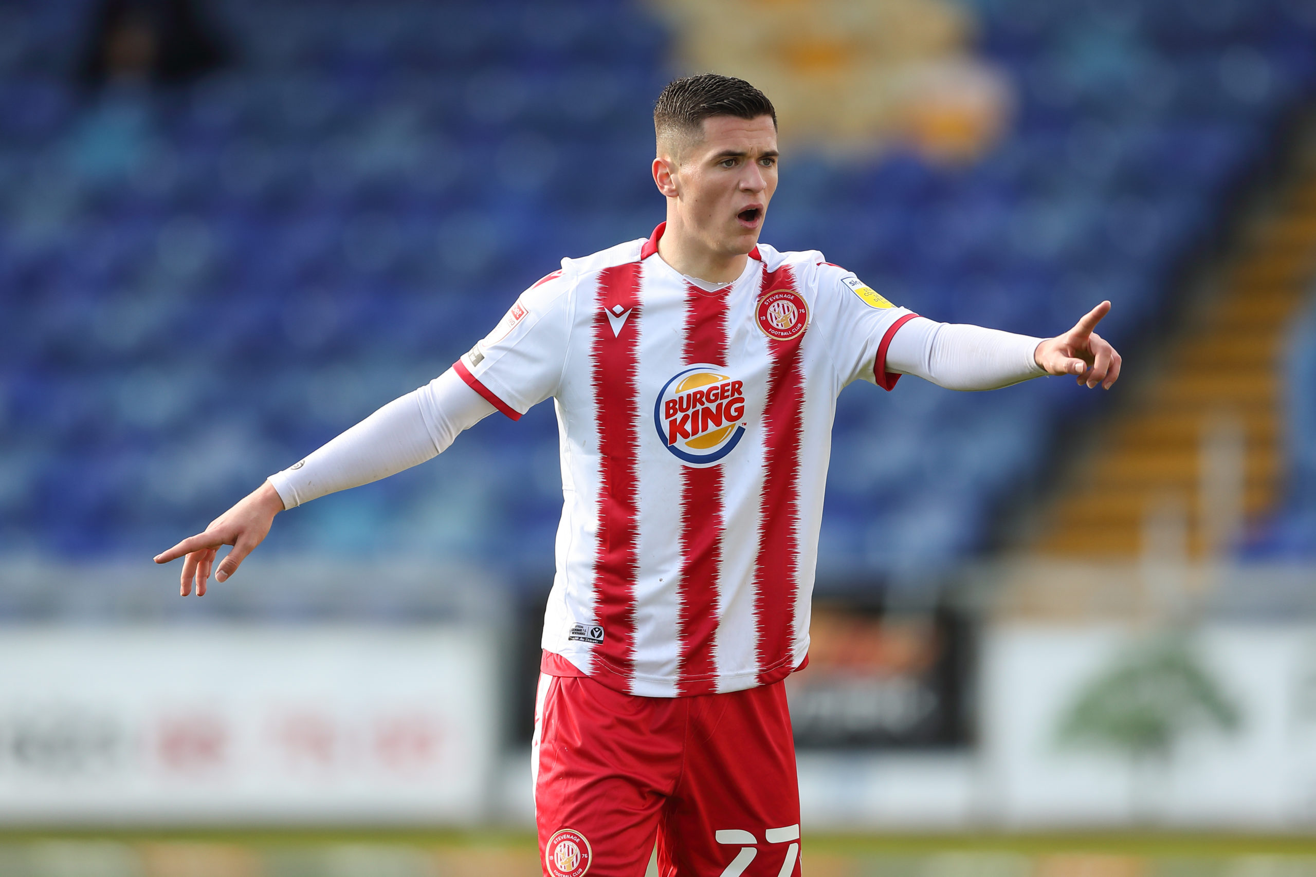 Former Celtic striker Jack Aitchison in action for Stevenage