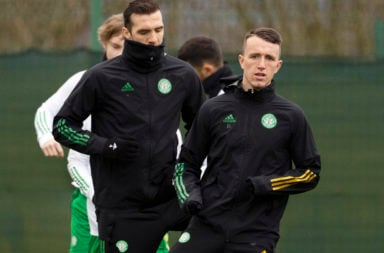 David Turnbull in Celtic training this week