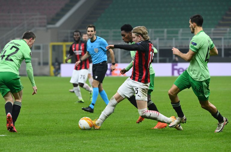 Celtic in action against AC Milan