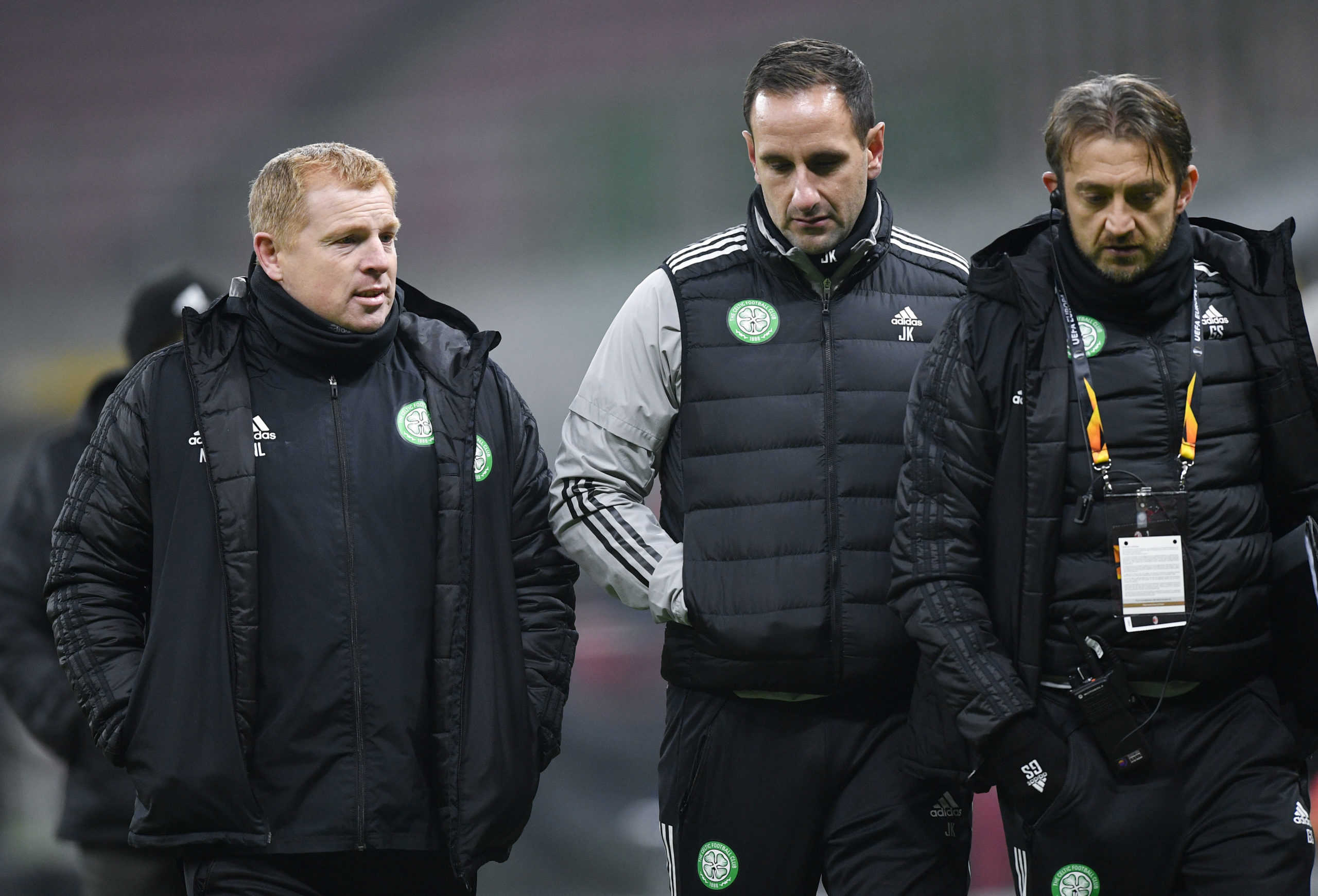 The Celtic coaching staff