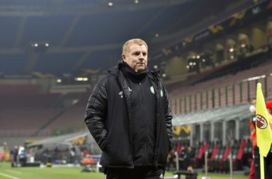 Celtic manager Neil Lennon after defeat to AC Milan