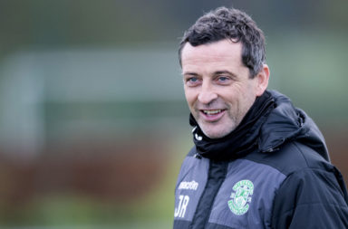 Hibs manager Jack Ross