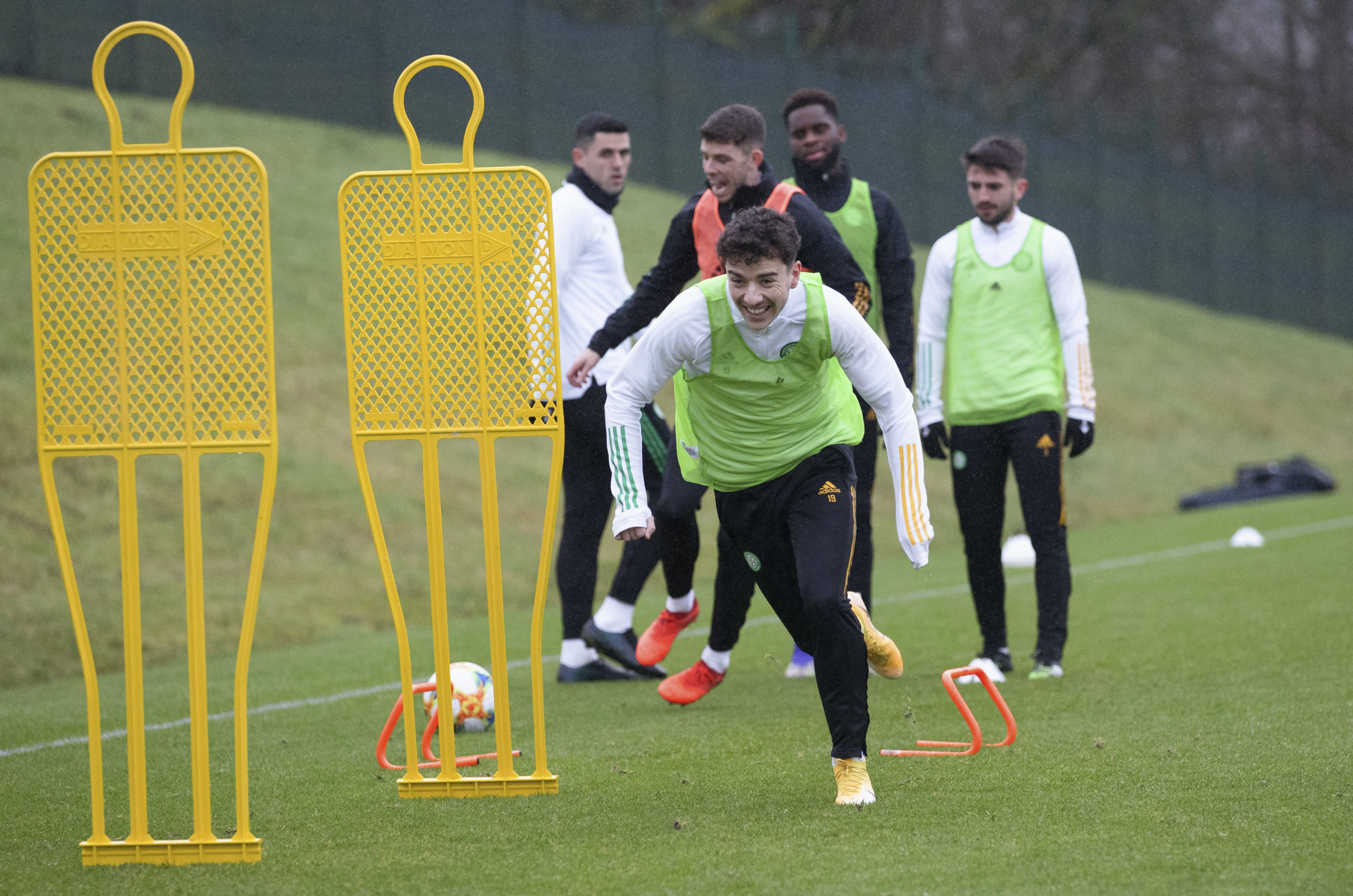 Mikey Johnston in Celtic training on December 18th