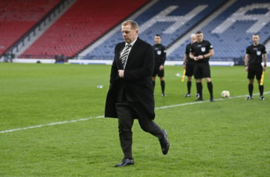 Celtic manager Neil Lennon ahead of today's final