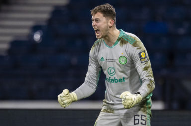Celtic goalkeeper Conor Hazard