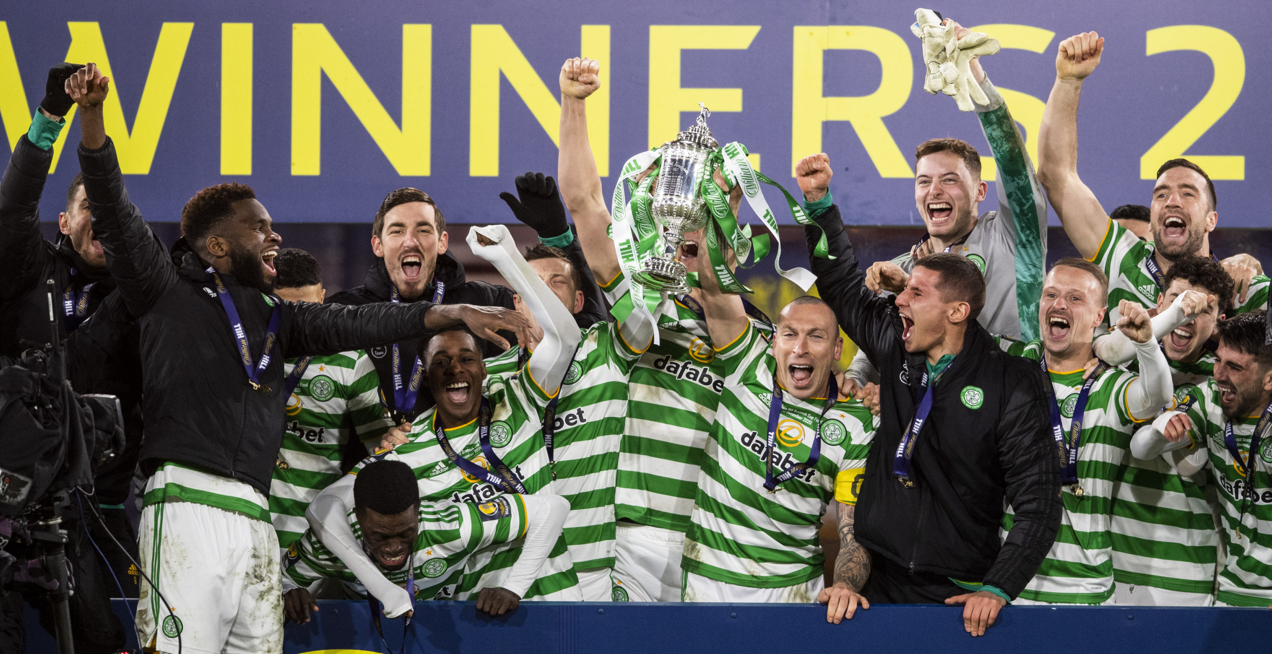 Scott Brown and Celtic lift the Scottish Cup