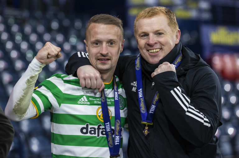 Celtic duo Leigh Griffiths and Neil Lennon