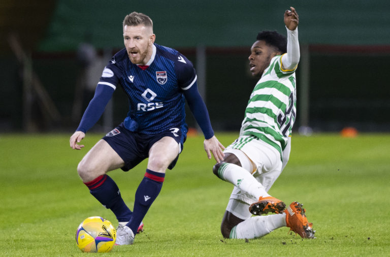 Celtic right-wing-back Jeremie Frimpong vs Ross County