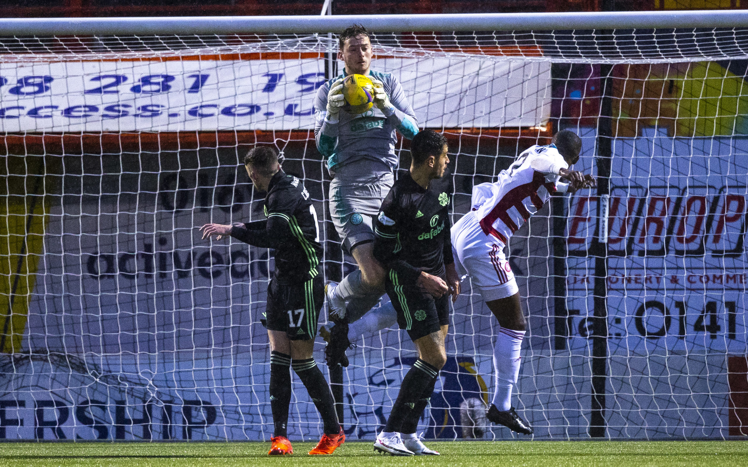 Conor Hazard claims confidently for Celtic at Hamilton