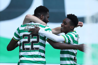 Celtic celebrate against Hamilton
