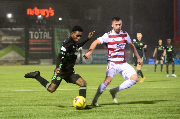 Jeremie Frimpong causing havoc for Celtic at Hamilton