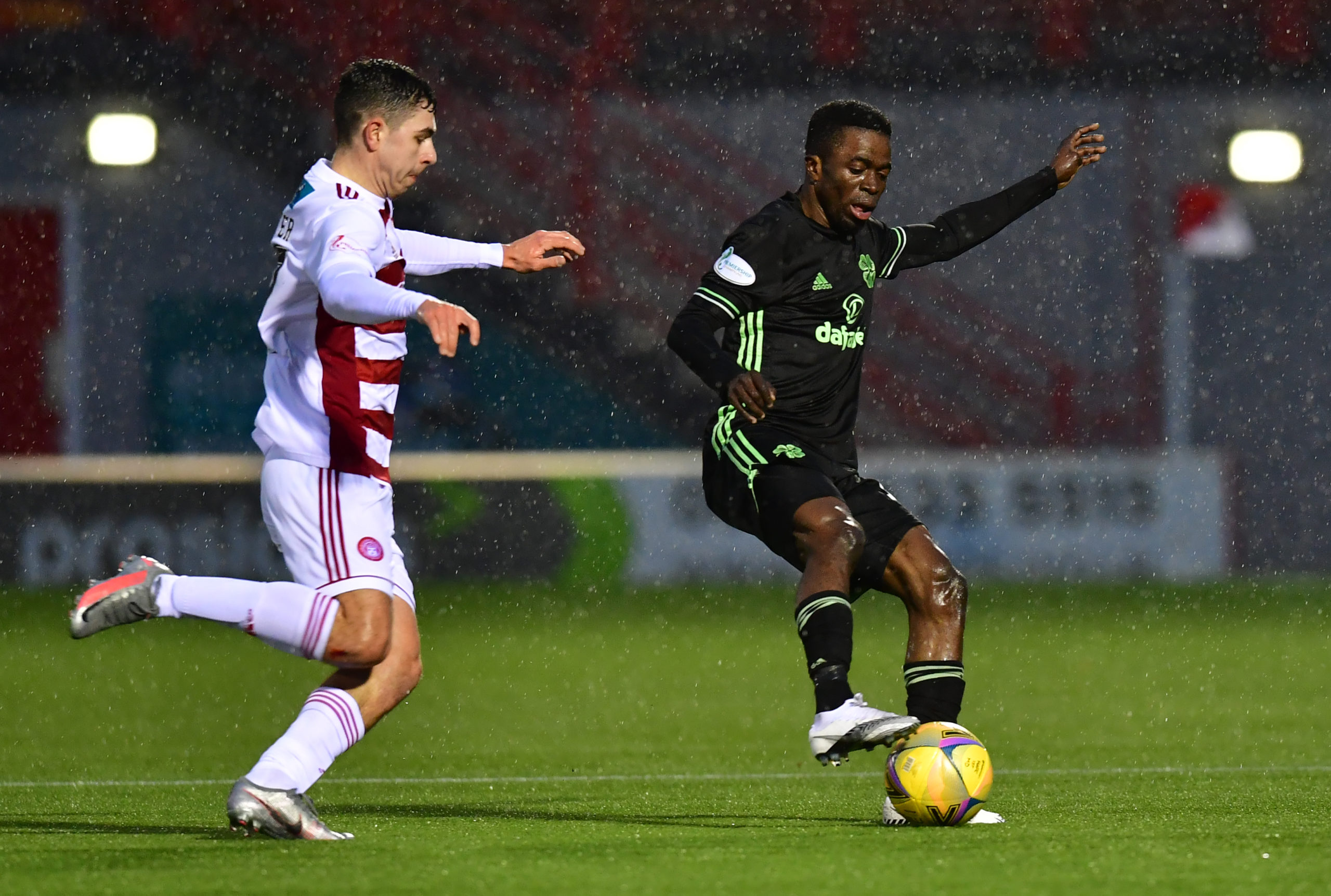 Ismaila Soro in action for Celtic against Hamilton