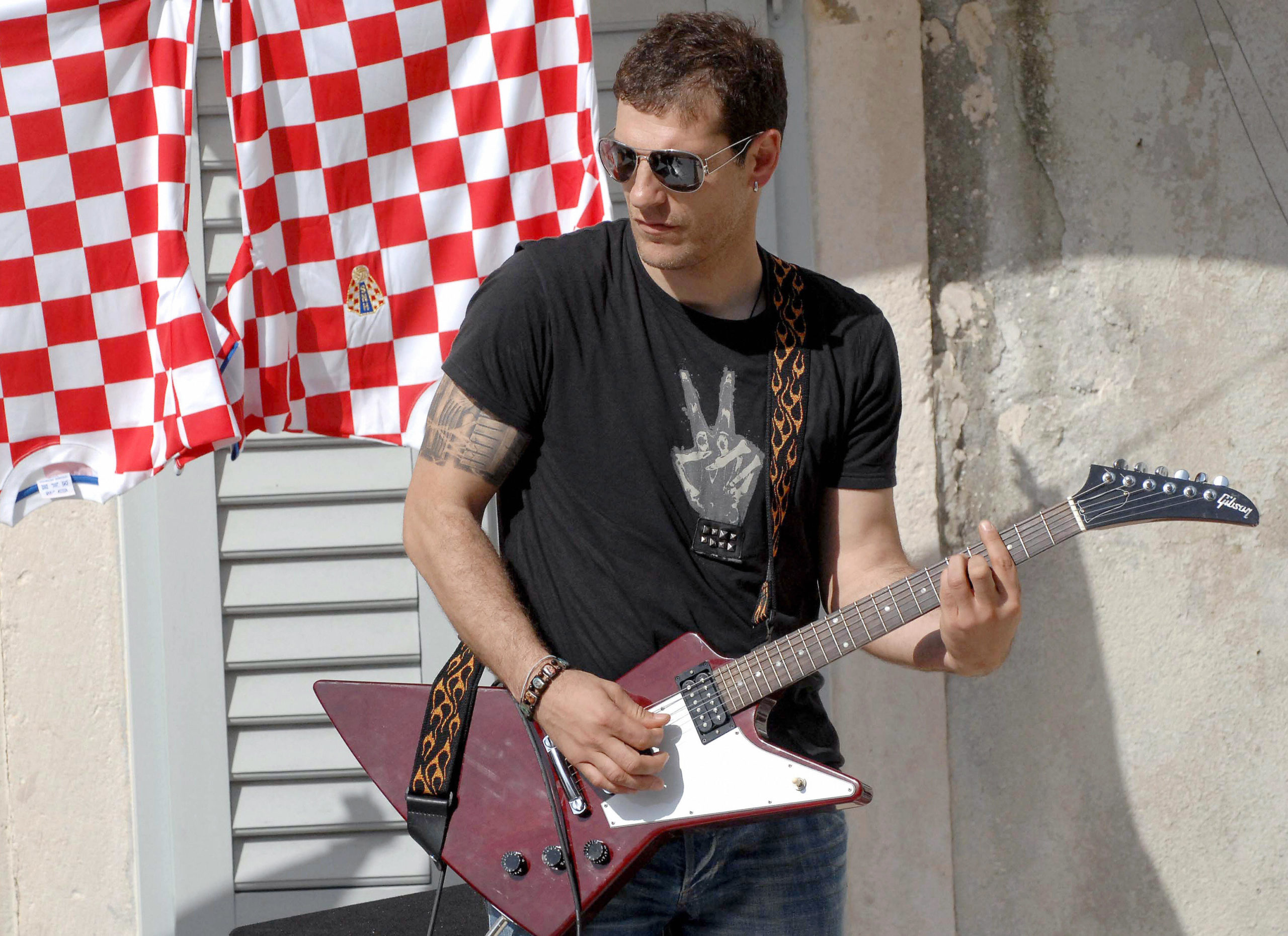 Croatia's football coach Slaven Bilic pl