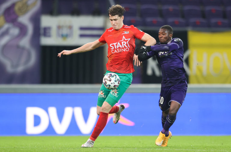 Celtic man Jack Hendry in action for Oostende vs Anderlecht