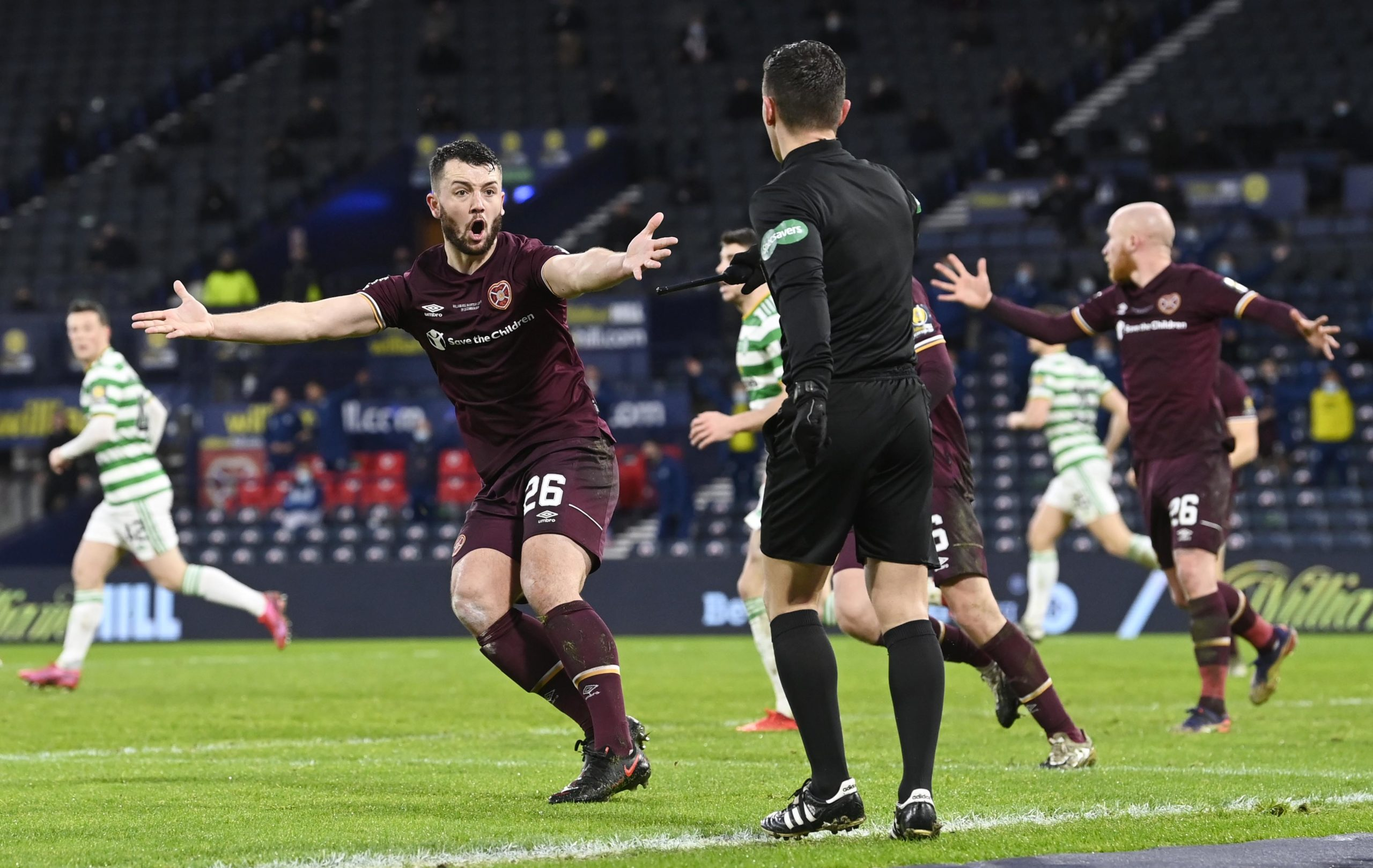 Goal-line technology was used at Hampden last month