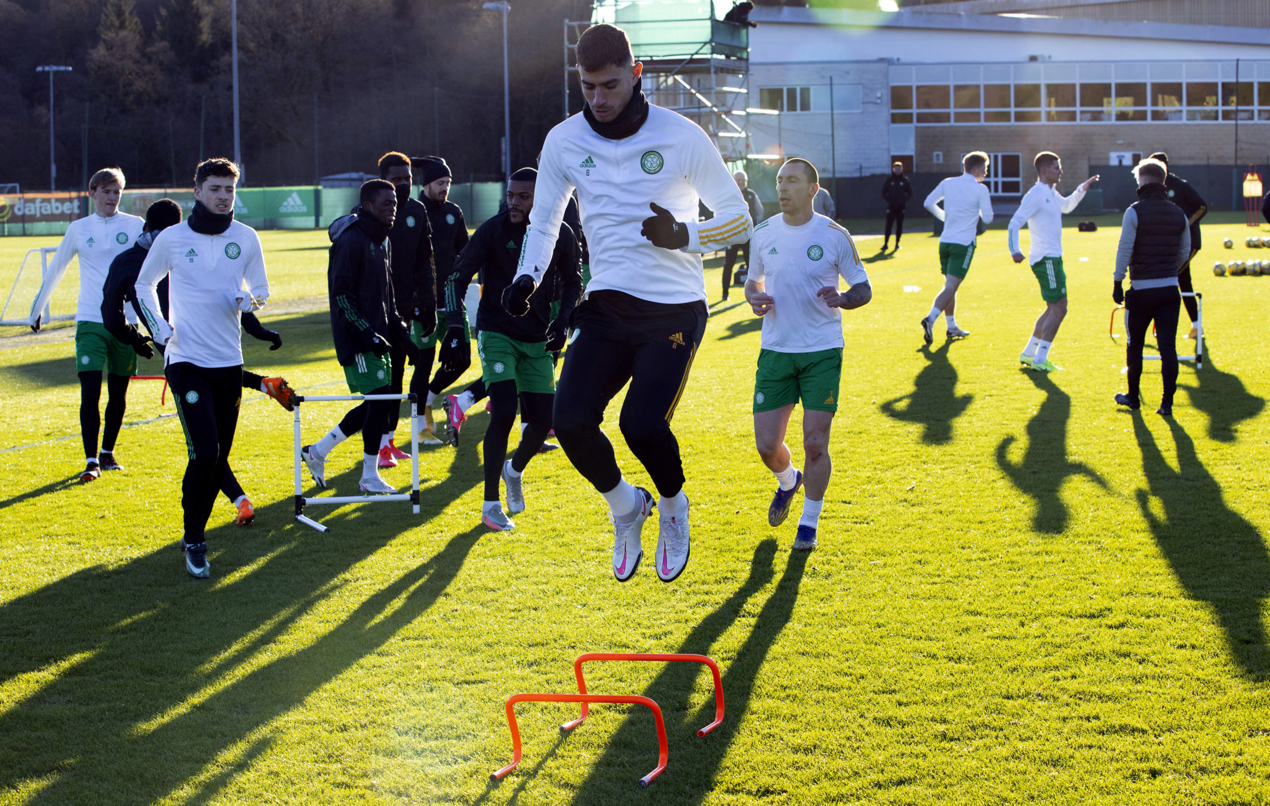 Celtic training at Lennoxtown today