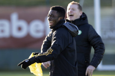Ismaila Soro in Celtic training