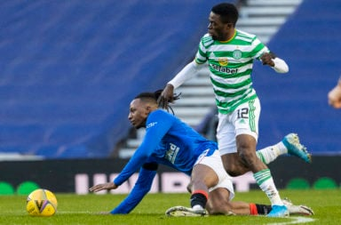 Ismaila Soro in action against Rangers