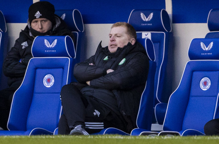 Celtic manager Neil Lennon at Ibrox