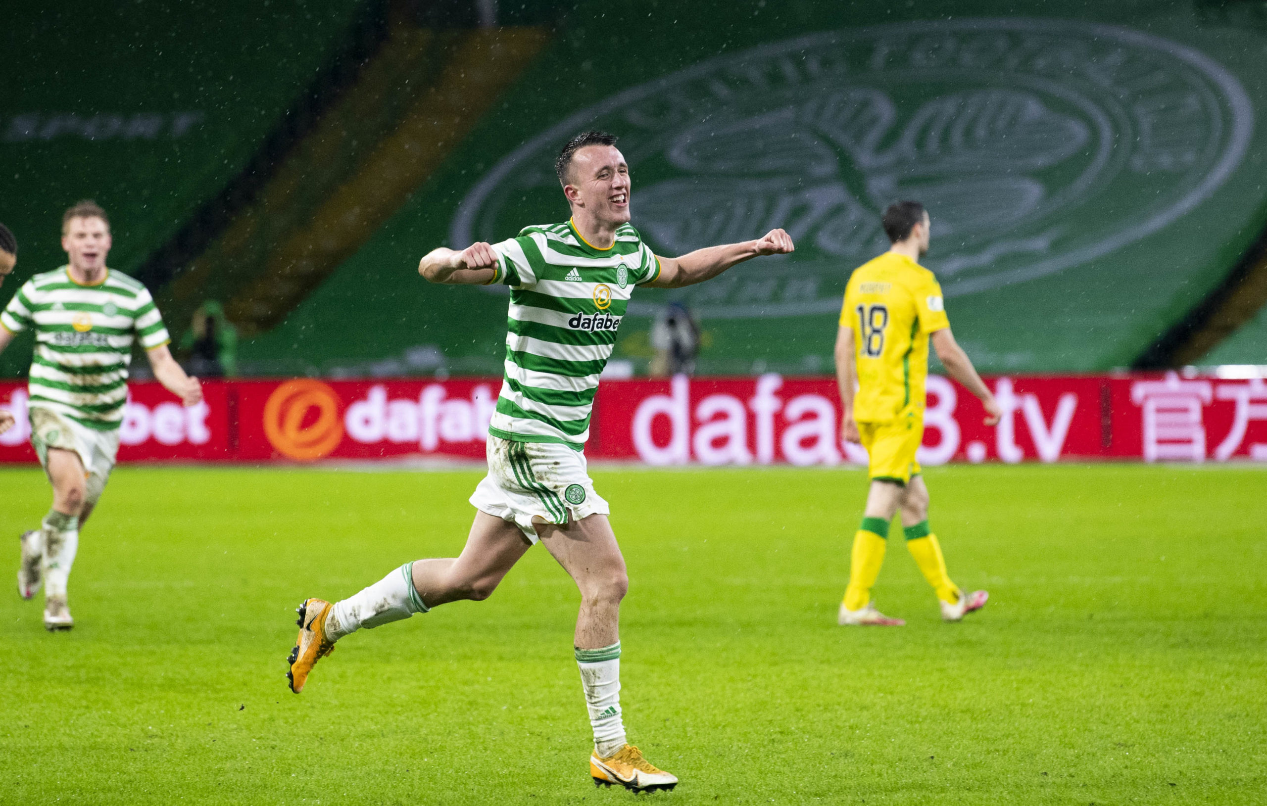 David Turnbull celebrates for Celtic