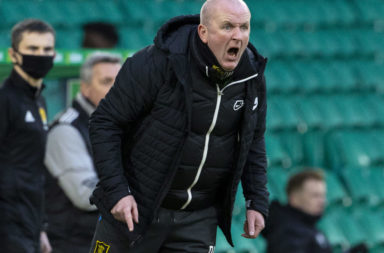 Livingston boss David Martindale at Celtic Park