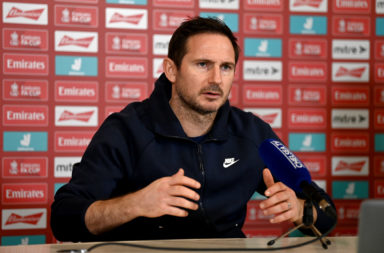 Frank Lampard at a Chelsea press conference