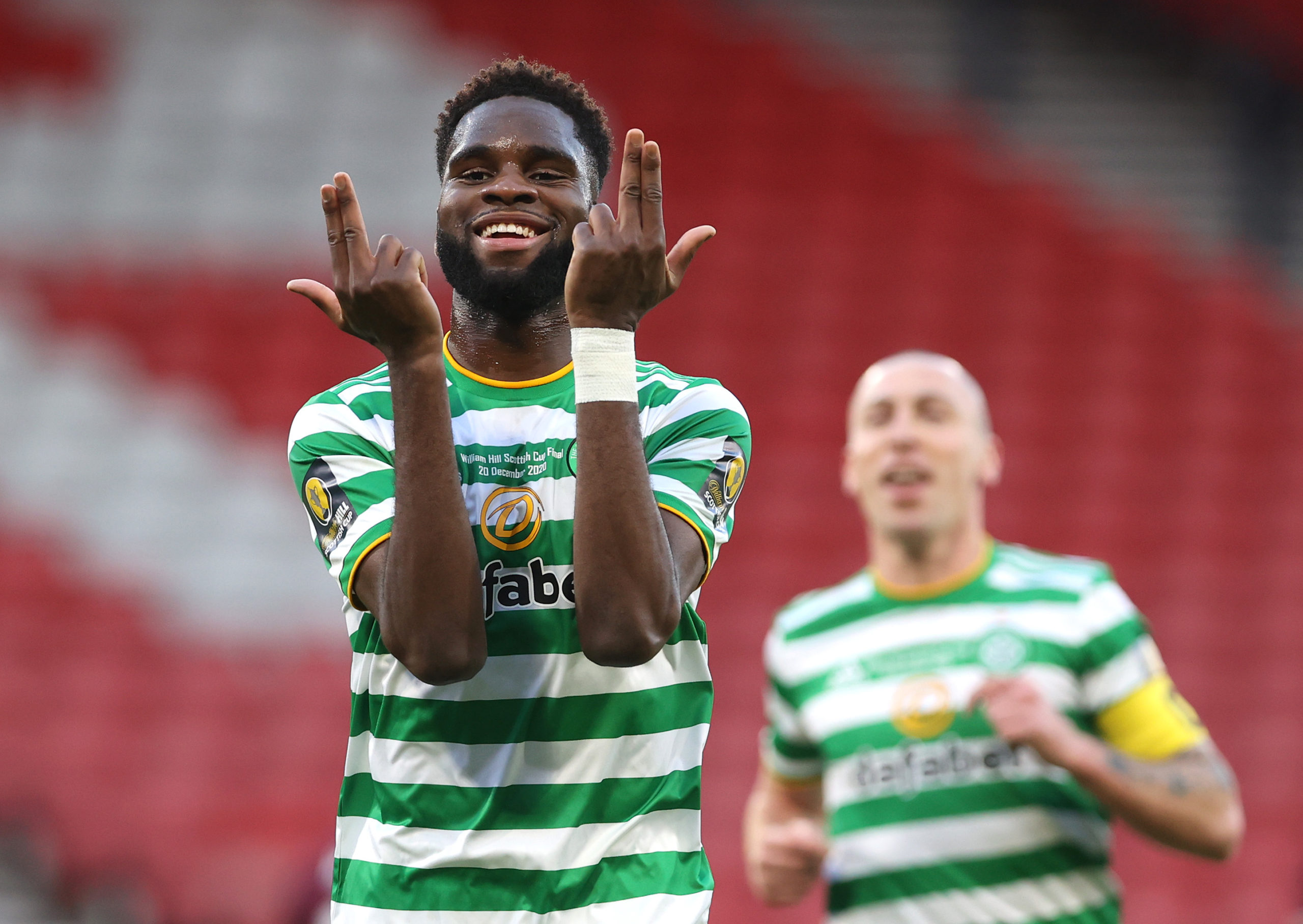 Odsonne Edouard is one of the self-isolating players at Celtic
