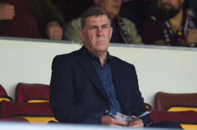 07/08/16 - LADBROKES PREMIERSHIP.HEARTS V CELTIC.TYNECASTLE - EDINBURGH.Motherwell manager Mark McGhee attends today's match