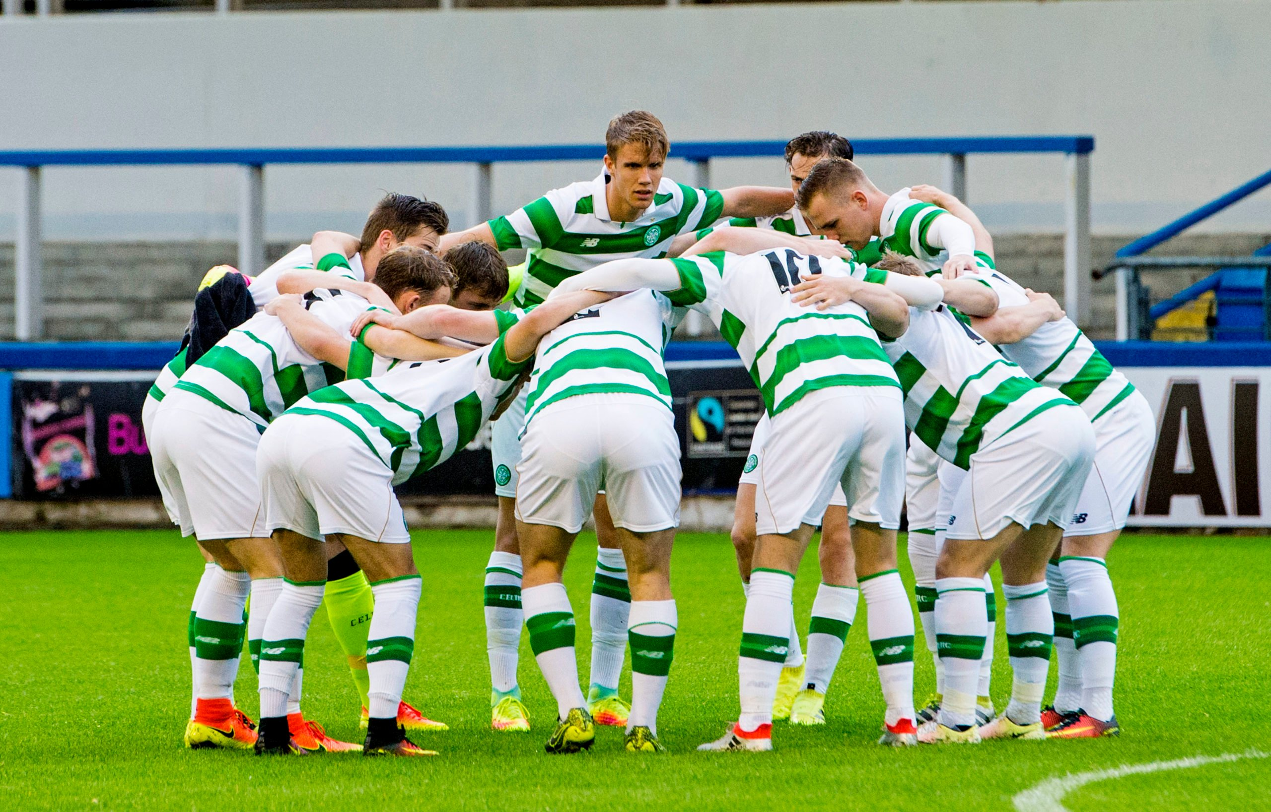 Celtic colts before a match against Manchester City