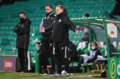 Neil Lennon watches on as St Mirren win 2-1 at Celtic Park