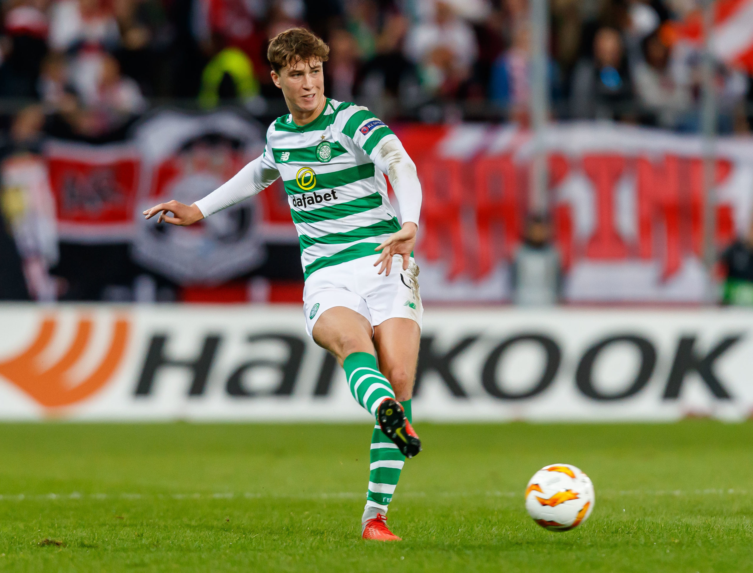 Jack Hendry in one of 27 Celtic appearances