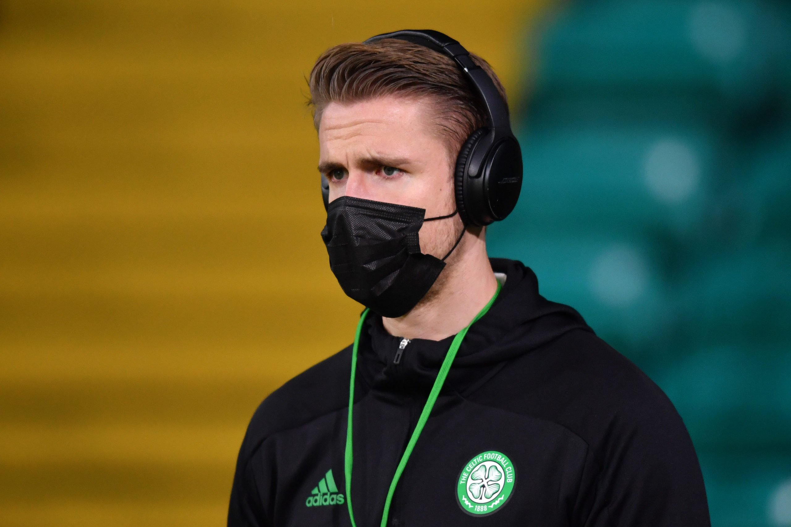 Kristoffer Ajer before a Celtic match