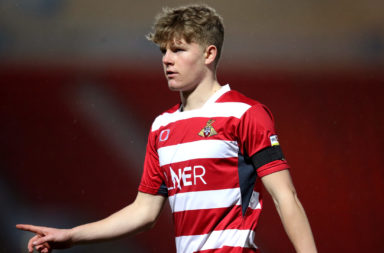 Celtic youngster Scott Robertson with Doncaster Rovers