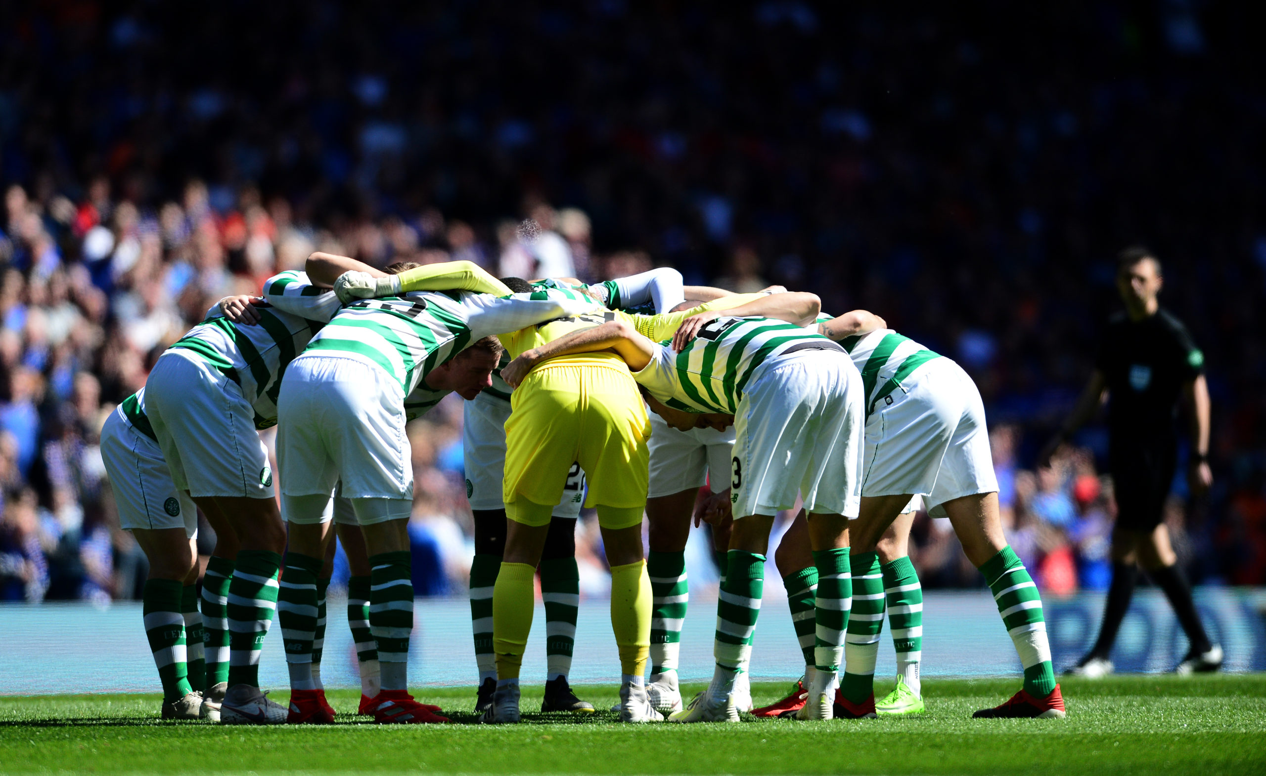 Celtic didn't receive a guard of honour back in 2019