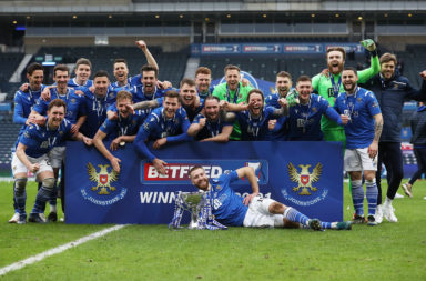 St Johnstone celebrate the Betfred Cup