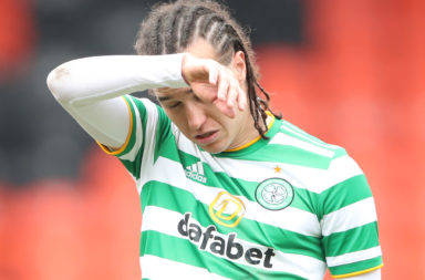 Diego Laxalt had a tough time of it at Ibrox