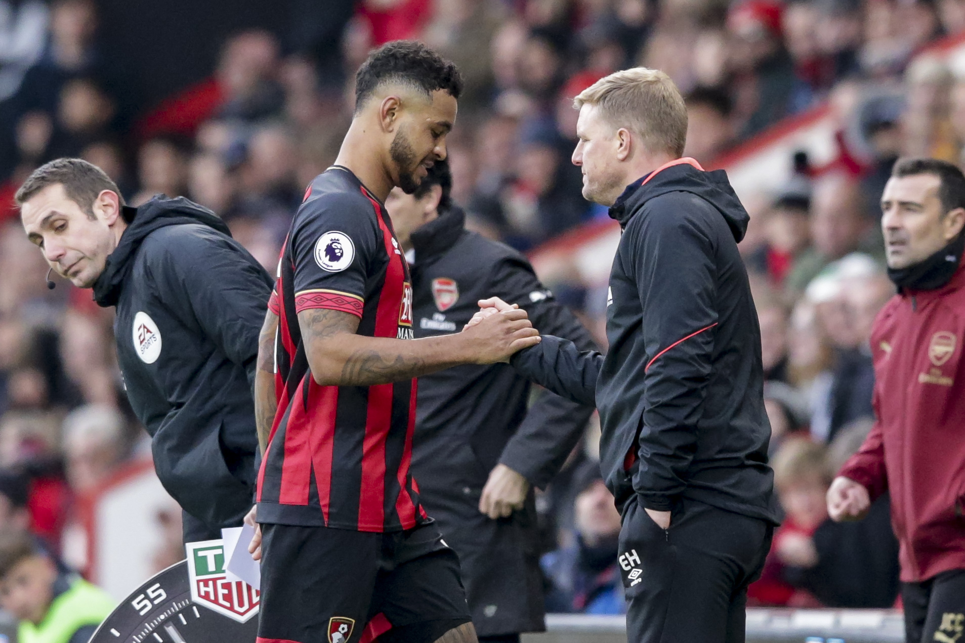 Eddie Howe and Joshua King